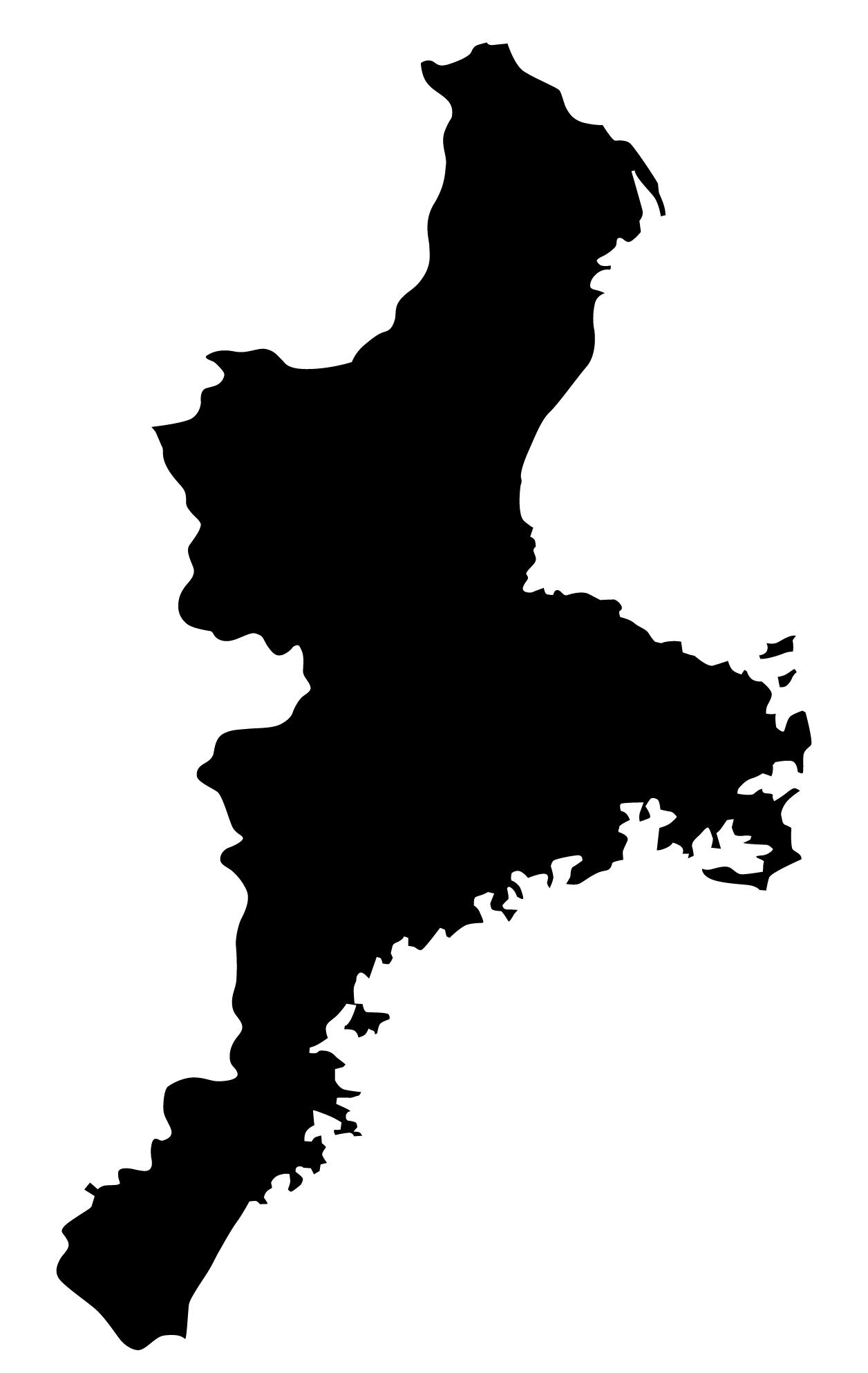 三重県無料フリーイラスト|文字なし(黒)