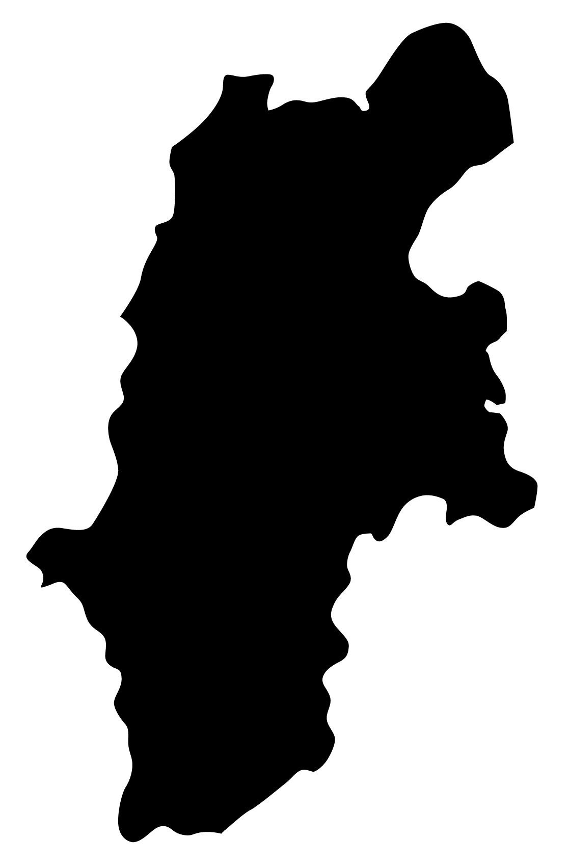 長野県無料フリーイラスト|文字なし(黒)