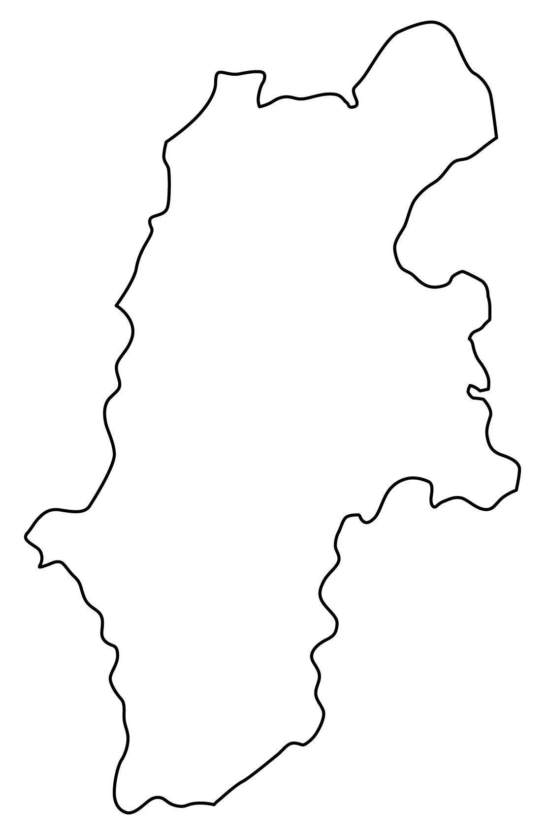 長野県無料フリーイラスト|文字なし(白)