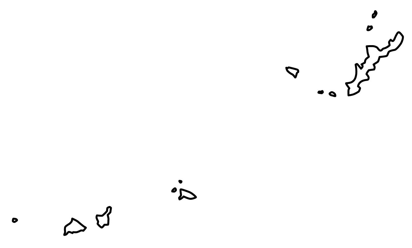 沖縄県無料フリーイラスト|文字なし(白)