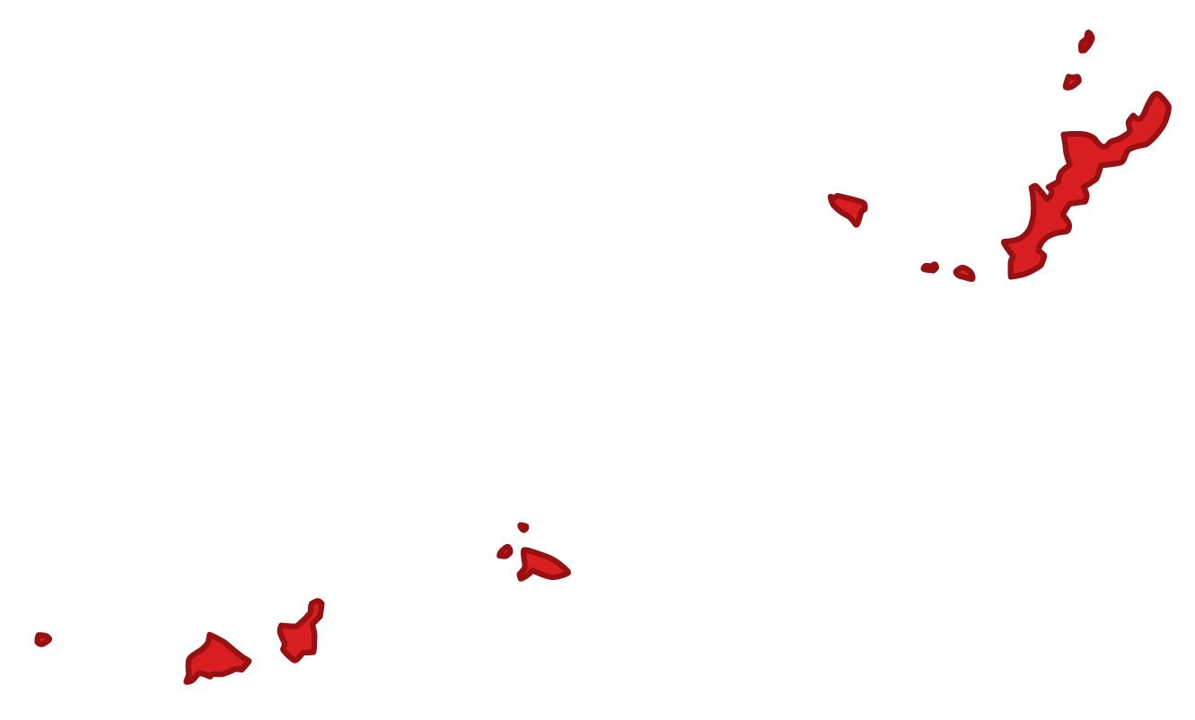 沖縄県無料フリーイラスト|文字なし(赤)
