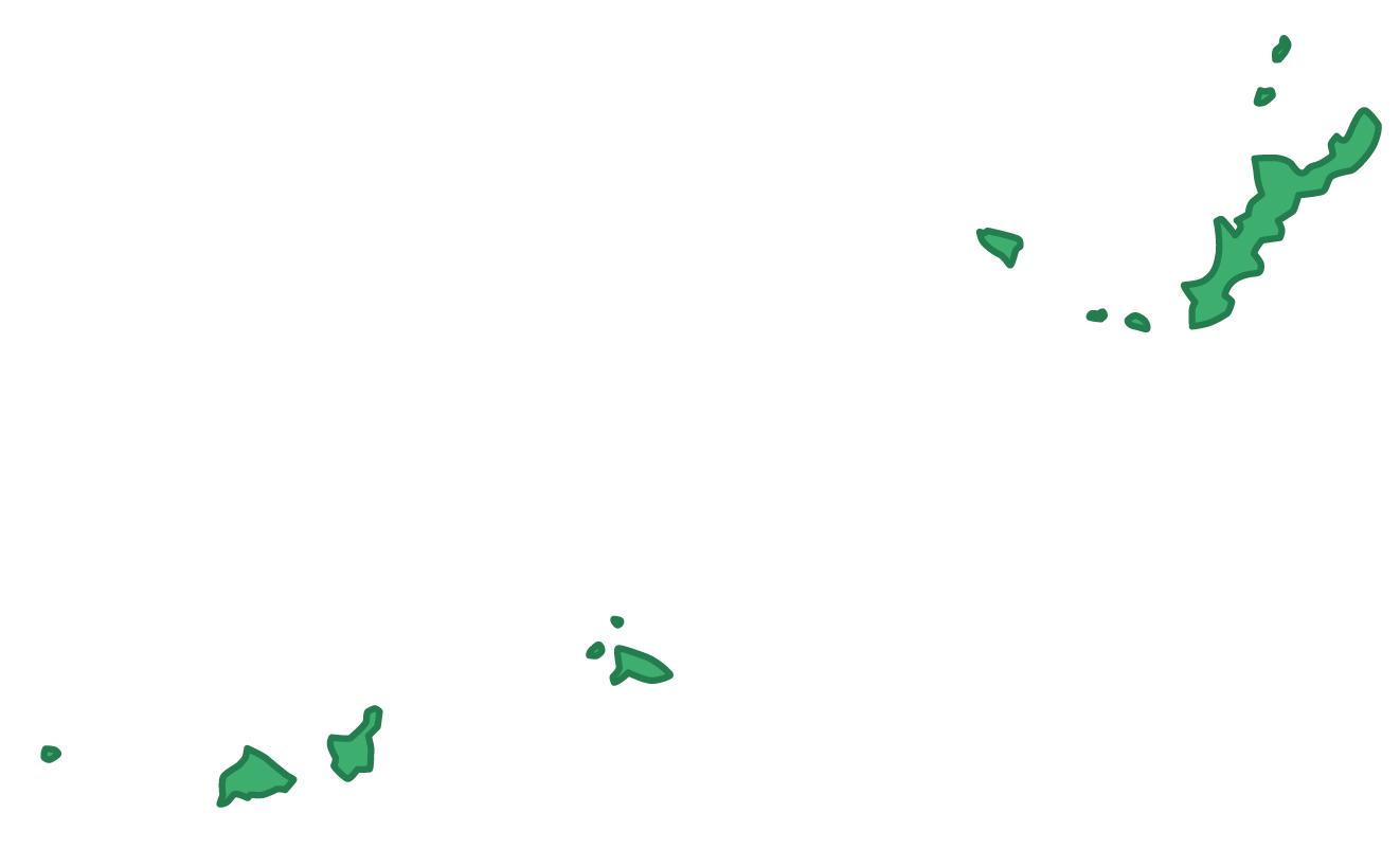沖縄県無料フリーイラスト|文字なし(緑)