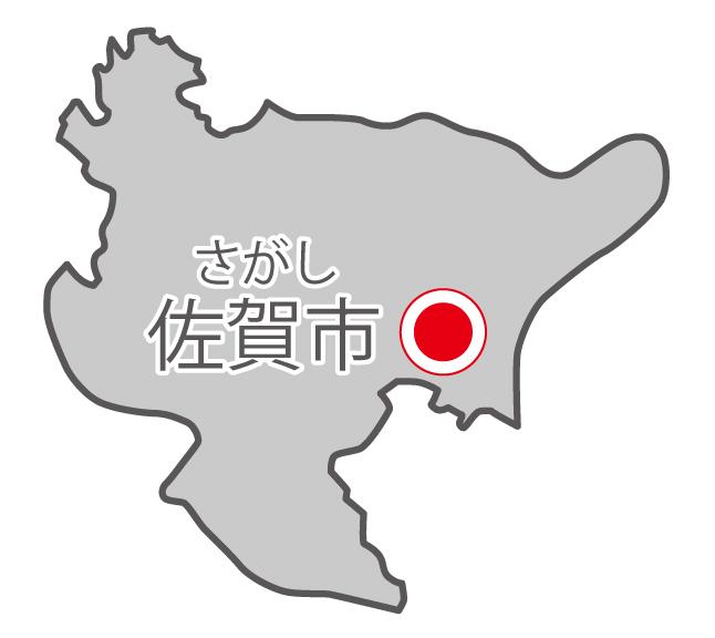 佐賀県無料フリーイラスト|日本語・県庁所在地あり・ルビあり(グレー)