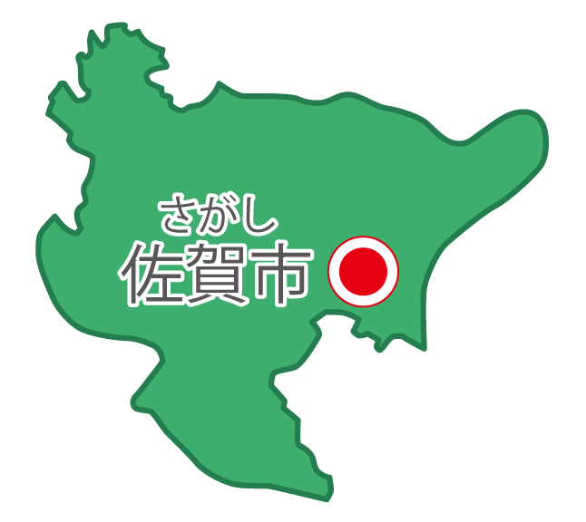佐賀県無料フリーイラスト|日本語・県庁所在地あり・ルビあり(緑)