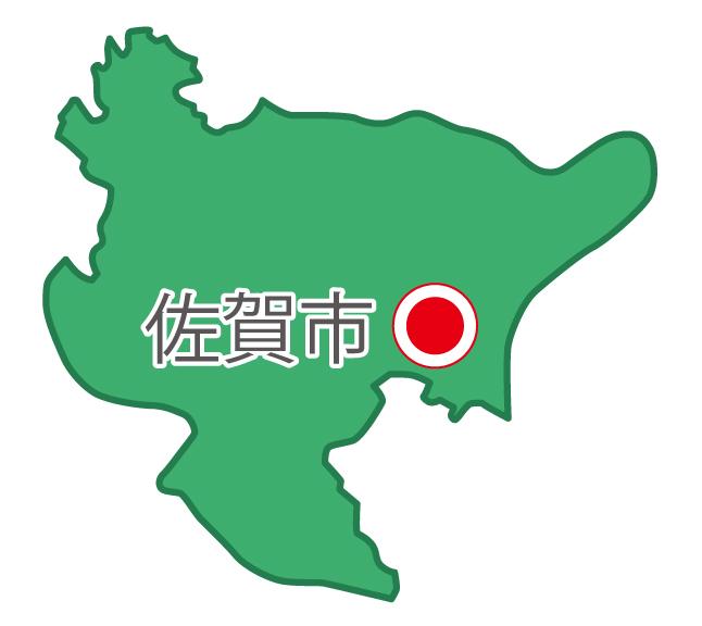 佐賀県無料フリーイラスト|日本語・県庁所在地あり(緑)