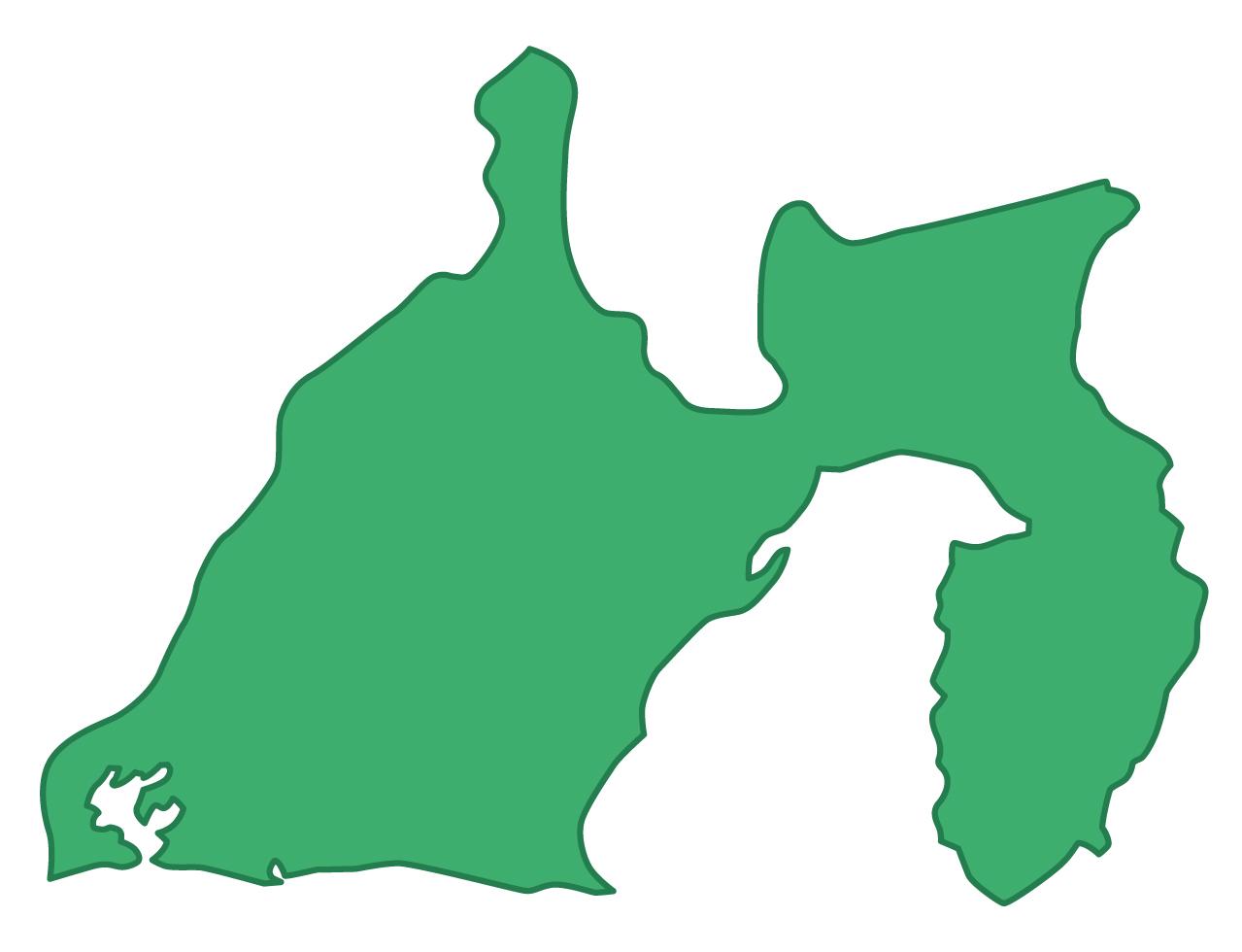 静岡県無料フリーイラスト|文字なし(緑)