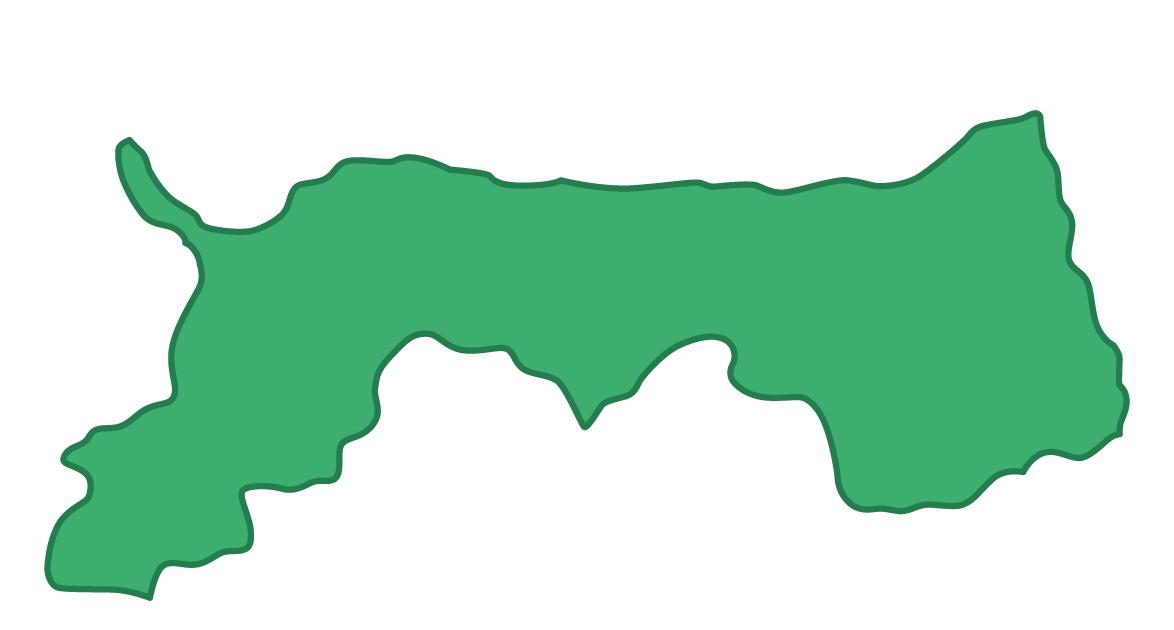 鳥取県無料フリーイラスト|文字なし(緑)