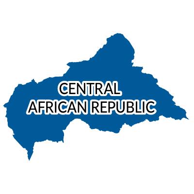 中央アフリカ共和国無料フリーイラスト|英語(青)