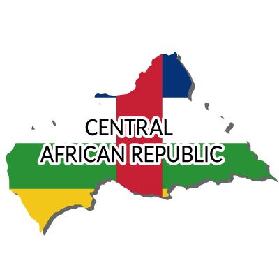 中央アフリカ共和国無料フリーイラスト|英語・国旗付