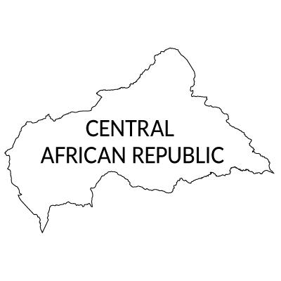 中央アフリカ共和国無料フリーイラスト|英語(白)