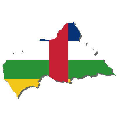 中央アフリカ共和国無料フリーイラスト|無地・国旗付
