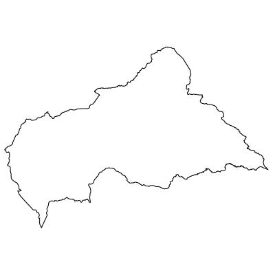 中央アフリカ共和国無料フリーイラスト|無地(白)
