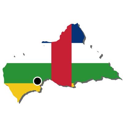 中央アフリカ共和国無料フリーイラスト|首都・国旗付