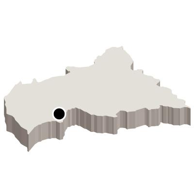 中央アフリカ共和国無料フリーイラスト|首都・立体(白)