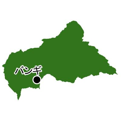 中央アフリカ共和国無料フリーイラスト|首都名(緑)