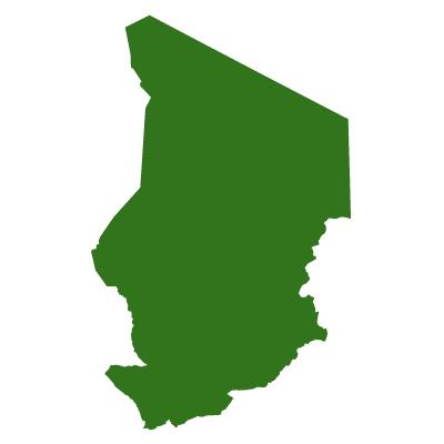 チャド共和国無料フリーイラスト|無地(緑)