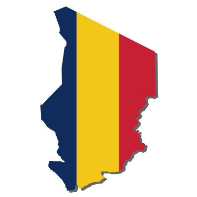 チャド共和国無料フリーイラスト|無地・国旗付