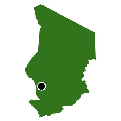 チャド共和国無料フリーイラスト|首都(緑)