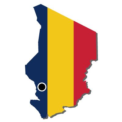 チャド共和国無料フリーイラスト|首都・国旗付